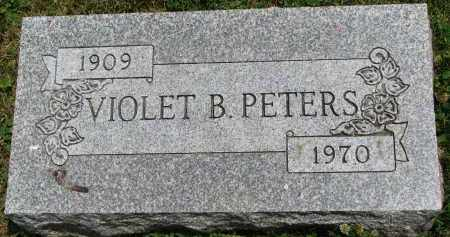 PETERS, VIOLET B. - Yankton County, South Dakota | VIOLET B. PETERS - South Dakota Gravestone Photos