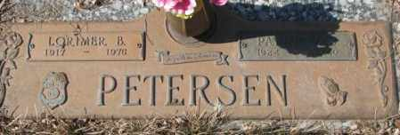 PETERSEN, LORIMER B. - Yankton County, South Dakota | LORIMER B. PETERSEN - South Dakota Gravestone Photos