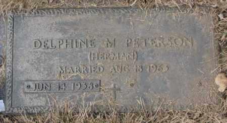 HERMAN PETERSON, DELPHINE M. - Yankton County, South Dakota | DELPHINE M. HERMAN PETERSON - South Dakota Gravestone Photos