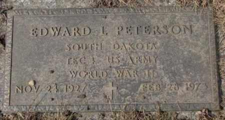 PETERSON, EDWARD L. - Yankton County, South Dakota   EDWARD L. PETERSON - South Dakota Gravestone Photos