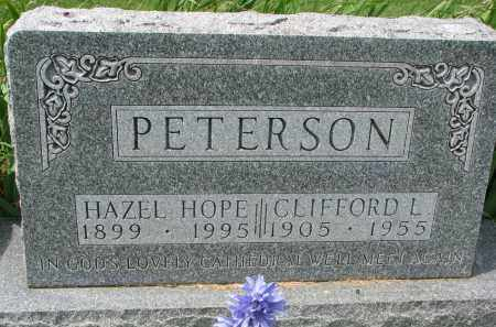 HOPE PETERSON, HAZEL - Yankton County, South Dakota | HAZEL HOPE PETERSON - South Dakota Gravestone Photos