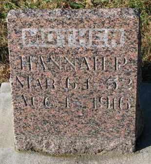 PETERSON, HANNAH P. - Yankton County, South Dakota | HANNAH P. PETERSON - South Dakota Gravestone Photos