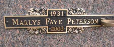 PETERSON, MARLYS FAYE - Yankton County, South Dakota | MARLYS FAYE PETERSON - South Dakota Gravestone Photos