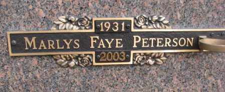 PETERSON, MARLYS FAYE - Yankton County, South Dakota | MARLYS FAYE PETERSON - South Dakota Gravestone Photos