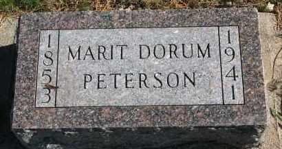 DORUM PETERSON, MARIT - Yankton County, South Dakota   MARIT DORUM PETERSON - South Dakota Gravestone Photos