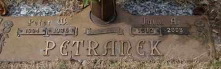 PETRANEK, JULIA A. - Yankton County, South Dakota   JULIA A. PETRANEK - South Dakota Gravestone Photos