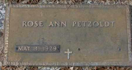 PETZOLDT, ROSE ANN - Yankton County, South Dakota   ROSE ANN PETZOLDT - South Dakota Gravestone Photos