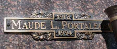 PORTALEOS, MAUDE L. - Yankton County, South Dakota | MAUDE L. PORTALEOS - South Dakota Gravestone Photos