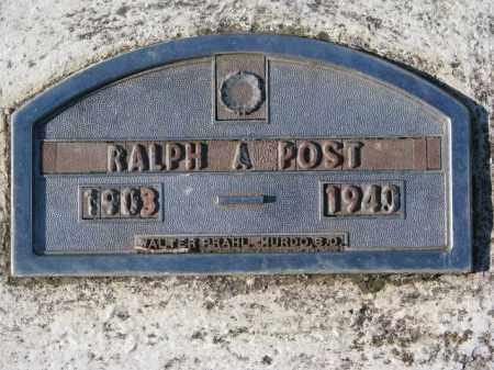 POST, RALPH A. - Yankton County, South Dakota | RALPH A. POST - South Dakota Gravestone Photos