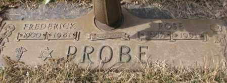 PROBE, FREDERICK - Yankton County, South Dakota | FREDERICK PROBE - South Dakota Gravestone Photos
