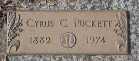 PUCKETT, CYRUS C. - Yankton County, South Dakota   CYRUS C. PUCKETT - South Dakota Gravestone Photos