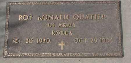 QUATIER, ROY RONALD (KOREA) - Yankton County, South Dakota   ROY RONALD (KOREA) QUATIER - South Dakota Gravestone Photos