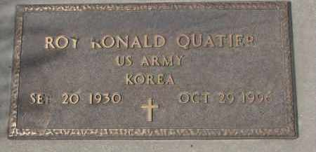 QUATIER, ROY RONALD (KOREA) - Yankton County, South Dakota | ROY RONALD (KOREA) QUATIER - South Dakota Gravestone Photos