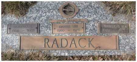RADACK, DANIEL LEE - Yankton County, South Dakota | DANIEL LEE RADACK - South Dakota Gravestone Photos