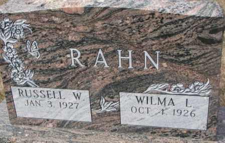 RAHN, WILMA L. - Yankton County, South Dakota | WILMA L. RAHN - South Dakota Gravestone Photos