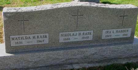 RASK, NIKOLAJ H. - Yankton County, South Dakota | NIKOLAJ H. RASK - South Dakota Gravestone Photos