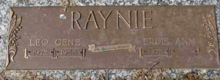 RAYNIE, LEO GENE - Yankton County, South Dakota   LEO GENE RAYNIE - South Dakota Gravestone Photos