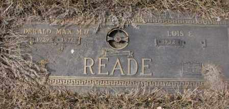 READE, DERALD MAX M.D. - Yankton County, South Dakota | DERALD MAX M.D. READE - South Dakota Gravestone Photos