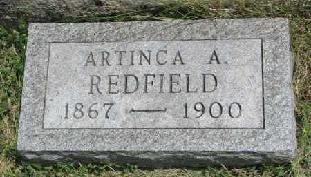 REDFIELD, ARTINCA A. #2 - Yankton County, South Dakota | ARTINCA A. #2 REDFIELD - South Dakota Gravestone Photos