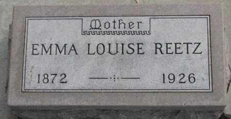 REETZ, EMMA LOUISE - Yankton County, South Dakota   EMMA LOUISE REETZ - South Dakota Gravestone Photos