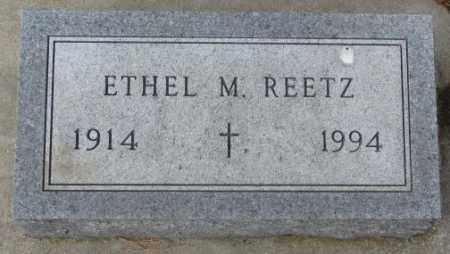 REETZ, ETHEL M. - Yankton County, South Dakota | ETHEL M. REETZ - South Dakota Gravestone Photos