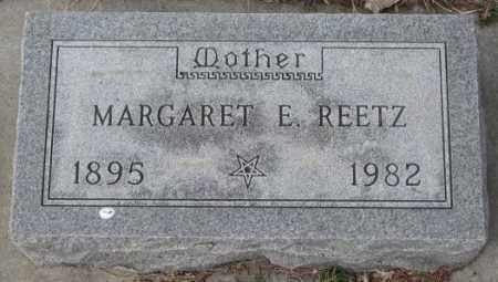 REETZ, MARGARET E. - Yankton County, South Dakota | MARGARET E. REETZ - South Dakota Gravestone Photos
