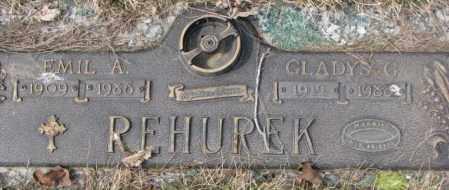 REHUREK, EMIL A. - Yankton County, South Dakota   EMIL A. REHUREK - South Dakota Gravestone Photos