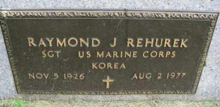 REHUREK, RAYMOND J. (MILITARY) - Yankton County, South Dakota | RAYMOND J. (MILITARY) REHUREK - South Dakota Gravestone Photos