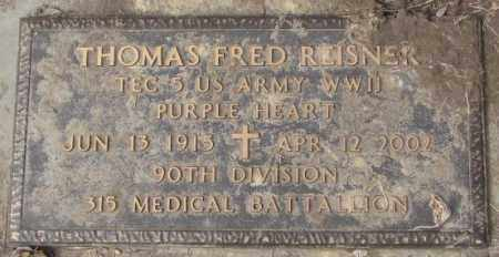 REISNER, THOMAS FRED (WW II) - Yankton County, South Dakota | THOMAS FRED (WW II) REISNER - South Dakota Gravestone Photos
