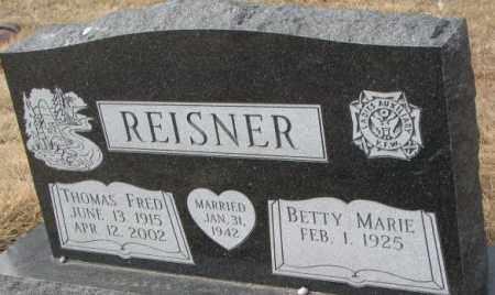 REISNER, THOMAS FRED - Yankton County, South Dakota | THOMAS FRED REISNER - South Dakota Gravestone Photos