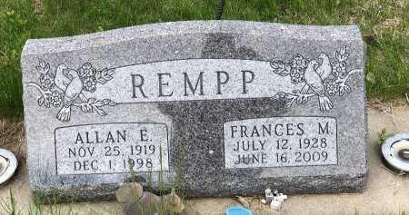 REMPP, FRANCES M - Yankton County, South Dakota | FRANCES M REMPP - South Dakota Gravestone Photos