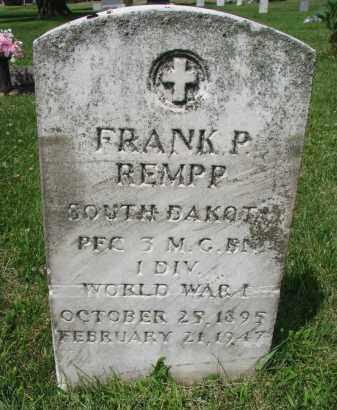 REMPP, FRANK P. - Yankton County, South Dakota | FRANK P. REMPP - South Dakota Gravestone Photos