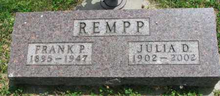 REMPP, FRANK P. - Yankton County, South Dakota | FRANK P. REMPP - South Dakota Gravestone Photos