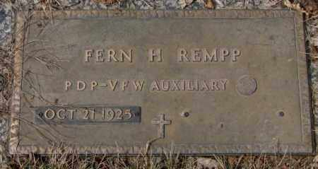 REMPP, FERN H. - Yankton County, South Dakota | FERN H. REMPP - South Dakota Gravestone Photos