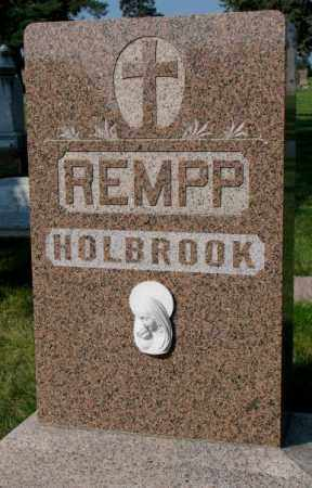 REMPP, HOLBROOK - Yankton County, South Dakota | HOLBROOK REMPP - South Dakota Gravestone Photos