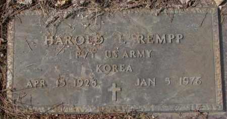 REMPP, HAROLD L. - Yankton County, South Dakota | HAROLD L. REMPP - South Dakota Gravestone Photos