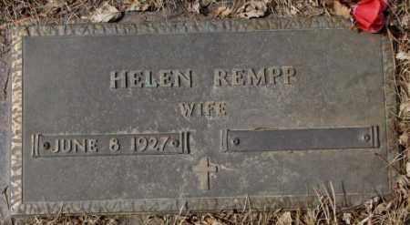 REMPP, HELEN - Yankton County, South Dakota   HELEN REMPP - South Dakota Gravestone Photos