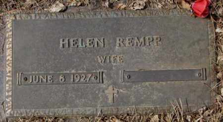 REMPP, HELEN - Yankton County, South Dakota | HELEN REMPP - South Dakota Gravestone Photos