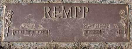 REMPP, KATHRYN M. - Yankton County, South Dakota | KATHRYN M. REMPP - South Dakota Gravestone Photos