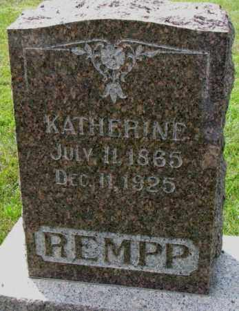 REMPP, KATHERINE - Yankton County, South Dakota | KATHERINE REMPP - South Dakota Gravestone Photos