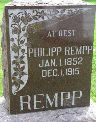 REMPP, PHILIPP - Yankton County, South Dakota | PHILIPP REMPP - South Dakota Gravestone Photos