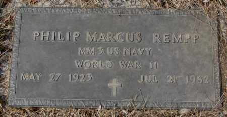 REMPP, PHILIP MARCUS - Yankton County, South Dakota | PHILIP MARCUS REMPP - South Dakota Gravestone Photos