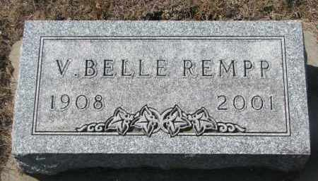 REMPP, V. BELLE - Yankton County, South Dakota   V. BELLE REMPP - South Dakota Gravestone Photos