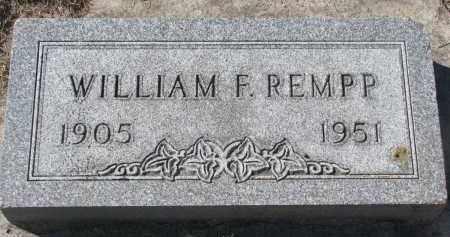 REMPP, WILLIAM F. - Yankton County, South Dakota | WILLIAM F. REMPP - South Dakota Gravestone Photos