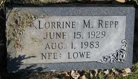 REPP, LORRINE M. - Yankton County, South Dakota   LORRINE M. REPP - South Dakota Gravestone Photos