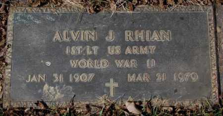 RHIAN, ALVIN J. - Yankton County, South Dakota | ALVIN J. RHIAN - South Dakota Gravestone Photos