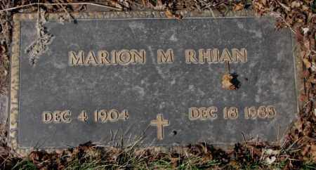 RHIAN, MARION M. - Yankton County, South Dakota | MARION M. RHIAN - South Dakota Gravestone Photos