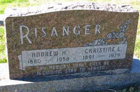 RISANGER, CHRISTINE L. - Yankton County, South Dakota | CHRISTINE L. RISANGER - South Dakota Gravestone Photos
