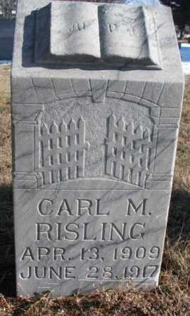 RISLING, CARL M. - Yankton County, South Dakota | CARL M. RISLING - South Dakota Gravestone Photos
