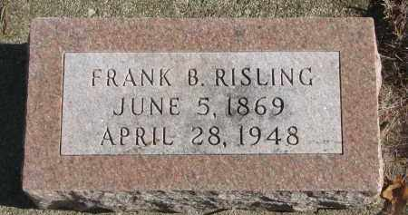 RISLING, FRANK B. - Yankton County, South Dakota | FRANK B. RISLING - South Dakota Gravestone Photos
